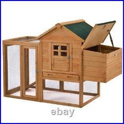 123.6in Large Outdoor Wooden Chicken Coop Poultry Cage Rabbit Hutch Animal House