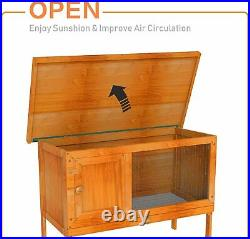 36 Chicken Coop Wooden Rabbit Hutch House Hen House Pet Poultry Cage Waterproof