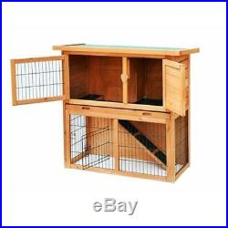 36 Outdoor Rabbit Hutch Chicken Coop Small Animal House Wooden Pet Cage New
