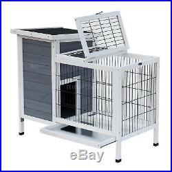 36 Outdoor Wooden Rabbit Hutch Elevated Bunny Cage Pet House House & Run Area