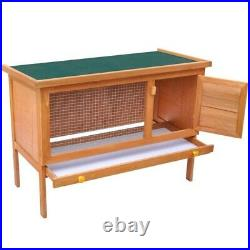 36 Wood Wooden Rabbit Hutch Small Animal House Pet Cage Chicken Coop Waterproof