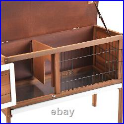 36 Wooden Chicken Coop Rabbit Chick Hutch Bunny Cage Pet House with ABS Tray