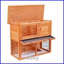 36 Wooden Rabbit Bunny Hutch Chicken Coop Hen House Poultry Cage Animal House