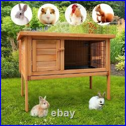 36Waterproof Wooden Chicken Coop Hen House Pet Animal Poultry Cage Rabbit Hutch