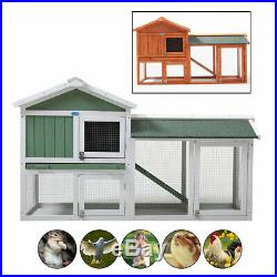 3ft H 2 Colors Chicken Coop Hen House Wooden Rabbit Hutch Small Animal Pet Cage