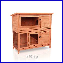 40 Rabbit Hutch Wooden Indoor and Outdoor Use with Waterproof Roof