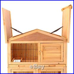 40 Wooden Rabbit Hutch Chicken Coop Cage Hen House Pet Poultry Animal Backyard