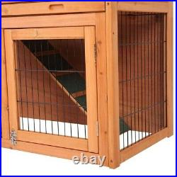 40New A-Frame Wood Wooden Rabbit Hutch Small Animal House Pet Cage Chicken Coop