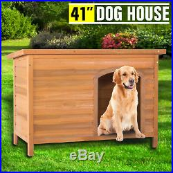 41 Waterproof Wood Wooden Large Dog House Kennel Cabin Pet Puppy Cage Outdoor