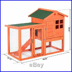 48.03 Rabbit Hutch Pet Portable Wooden Wood Enclosure Bunny House Cage Tray Run