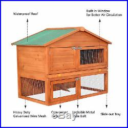 48.4 High Duality Portable Wooden Rabbit Hutch House Chicken Coop