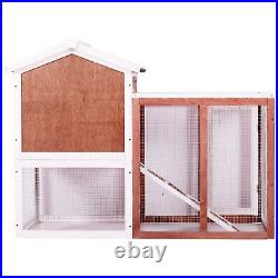 48 Large Chicken Coop Hen House Wooden Rabbit Hutch House New