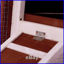 48inch Wooden Dog House Large Pet House Cage For Dog Cat Rabbit Hen Outdoor US