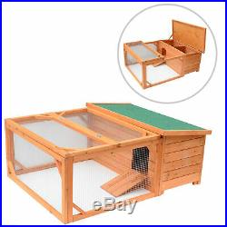 49.2 Chicken Coop Wooden Rabbit Hutch House Poultry Coup Coops With Run