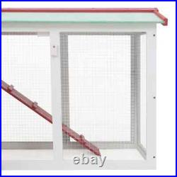 57'' Outdoor Large Rabbit Hutch Wooden Chicken Coop Dog House Cage Run Enclosure