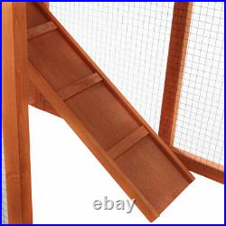 58 Wooden Chicken Coop 2-Tier Rabbit Hutch Small Animal Poultry House WithRun