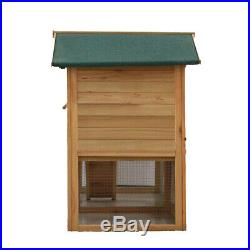 58'' Wooden Chicken Coop Pet Hen Rabbit Hutch Cage Poultry House Nest Box With Run