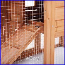 58New A-Frame Wood Wooden Rabbit Hutch Small Animal House Pet Cage Chicken Coop