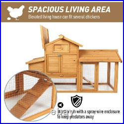 59 Wooden Chicken Coop Hen House Rabbit Hutch Poultry Pet Cage Backyard
