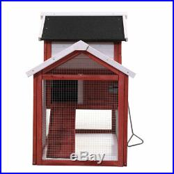 60 Chicken Coop Rabbit Hutch Large Hen House Wooden Animal Pet Cage with Run