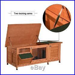 60'' Chicken Coop Rabbit Hutch Poultry Hen House Cage Wooden