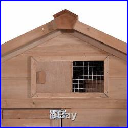 60'' Deluxe Wooden Chicken Coop Poultry Hen House Rabbit Hutch Cage 6010-0313S25