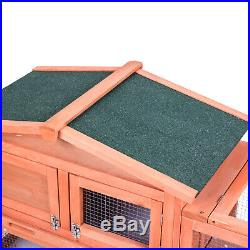 60Chicken Coop Waterproof Wood Wooden Hutch Hen House Poultry Pet Nesting Cage