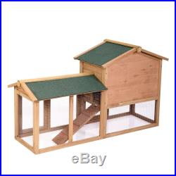61 Wooden Chicken Coop Hen House Rabbit Wood Hutch Poultry Cage Habitat new