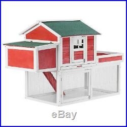 61 Wooden Large Chicken Coop Hen House Small Animal Cage Rabbit Hutch with Run