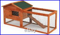 62 Wooden Hen House Chicken Coop Backyard Farm Poultry Cage Bunny Hutch