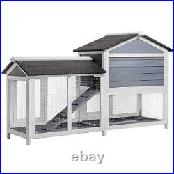 62Pet Rabbit Hutch Wooden House Chicken Coop for Small Animals