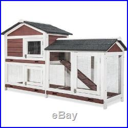 63 Wooden Chicken Coop House Rabbit Wood Hutch Poultry Cage For Small Animal