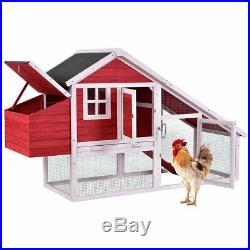 64 Large Wooden Rabbit Hutch Chicken Coop Bunny Animal Hen Cage House withRun