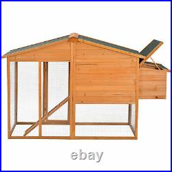 73.6 Large Chicken Coop Rabbit Hutch Wooden House Cage for Small Animals