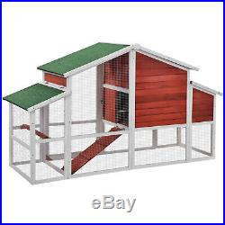 74.8 Chicken Coop Rabbit House Wooden Small Animal Cage Bunny Hutch with Ramp