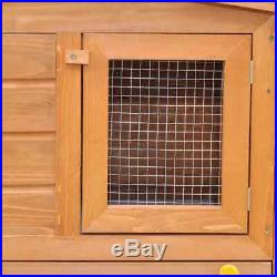 75 Large Rabbit Hutch Chicken Hen Coop Animal House Pet Cage Wooden House Run