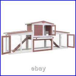 80.3 Outdoor Large Rabbit Hutch Wooden Chicken Coop Small Animal House Pet Cage