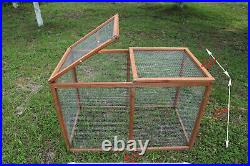 80'' Wooden Chicken Coop Pet Hultch House With Run Nest Box Cage Outddor Indoor