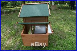 80'' Wooden Chicken Coop Rabbit Hutch Cage Hen Pet Animal Poultry Cage Run Large