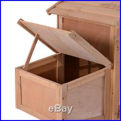 82'' Wooden Chicken Coop Poultry Hen House Rabbit Hutch Backyard Cage with Run 315