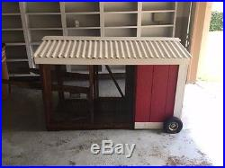 83 Wooden Chicken Coop Hen House Pet Animal Poultry Cage Rabbit Hutch withRun