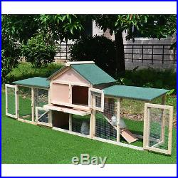 83 Wooden Two Story Outdoor Deluxe XL Rabbit Bunny House Hutch Pet Cage