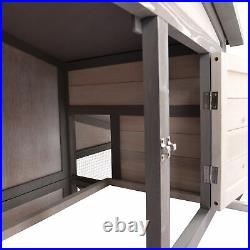 88.2'' Upgraded Large Wooden Bunny Chicken Coop Rabbit Hutch Small Animal House