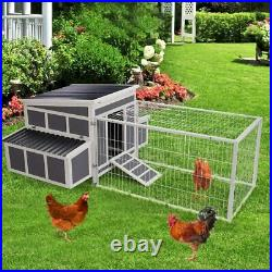88 Chicken Coop Wooden Cage Hen House Pet Hutch for Small Animal with Nesting Box