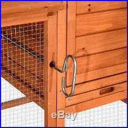 9.3ft Extra Large Wooden Chicken Poultry Coop Hen House Hutch Cage 0324