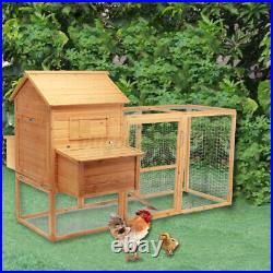 90 Wooden Chicken Coop Backyard Nesting Box Hen House Poultry Hutch Rabbit Cage