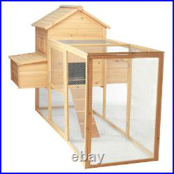90'' Wooden Chicken Coop Hen House Poultry Animal Sturdy Cage Rabbit Nesting Box