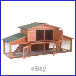 ALEKO 39Lx28Hx91W in Pet House Poultry Hutch Rabbits Chicken Wooden Cage