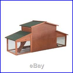 ALEKO Wooden Pet House Poultry Hutch Rabbits Chicken Wooden Cage 39Lx28Hx91W in