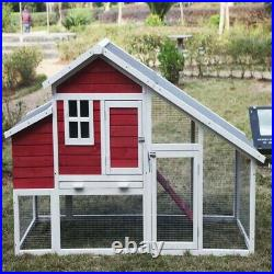 ALEKO Wooden Pet House Poultry Hutch Rabbits Chickens Coop Cage 80.3X29.5X45in